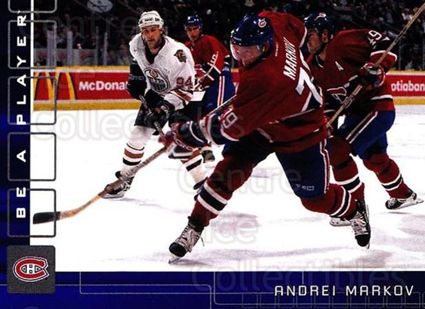 2001-02 BAP Memorabilia Sapphire #52 Andrei Markov<br/>3 In Stock - $5.00 each - <a href=https://centericecollectibles.foxycart.com/cart?name=2001-02%20BAP%20Memorabilia%20Sapphire%20%2352%20Andrei%20Markov...&quantity_max=3&price=$5.00&code=364178 class=foxycart> Buy it now! </a>