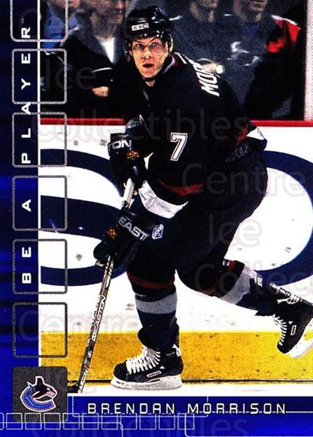 2001-02 BAP Memorabilia Sapphire #58 Brendan Morrison<br/>2 In Stock - $5.00 each - <a href=https://centericecollectibles.foxycart.com/cart?name=2001-02%20BAP%20Memorabilia%20Sapphire%20%2358%20Brendan%20Morriso...&quantity_max=2&price=$5.00&code=364184 class=foxycart> Buy it now! </a>