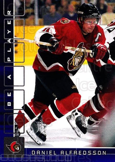 2001-02 BAP Memorabilia Sapphire #62 Daniel Alfredsson<br/>1 In Stock - $5.00 each - <a href=https://centericecollectibles.foxycart.com/cart?name=2001-02%20BAP%20Memorabilia%20Sapphire%20%2362%20Daniel%20Alfredss...&quantity_max=1&price=$5.00&code=364189 class=foxycart> Buy it now! </a>