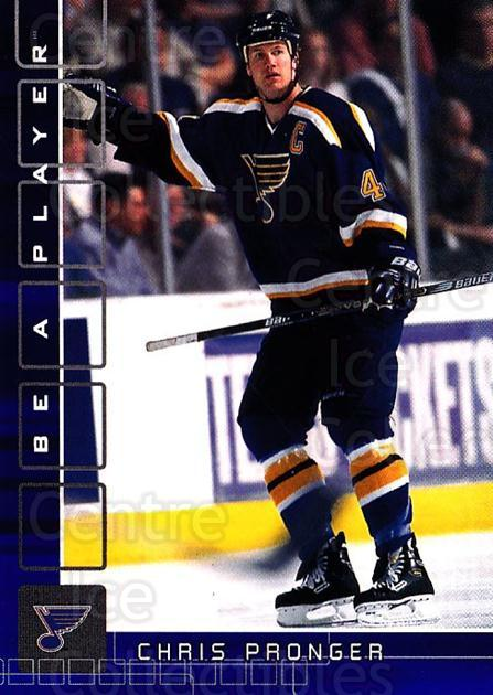 2001-02 BAP Memorabilia Sapphire #64 Chris Pronger<br/>2 In Stock - $5.00 each - <a href=https://centericecollectibles.foxycart.com/cart?name=2001-02%20BAP%20Memorabilia%20Sapphire%20%2364%20Chris%20Pronger...&quantity_max=2&price=$5.00&code=364191 class=foxycart> Buy it now! </a>