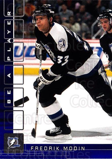 2001-02 BAP Memorabilia Sapphire #65 Fredrik Modin<br/>2 In Stock - $5.00 each - <a href=https://centericecollectibles.foxycart.com/cart?name=2001-02%20BAP%20Memorabilia%20Sapphire%20%2365%20Fredrik%20Modin...&quantity_max=2&price=$5.00&code=364192 class=foxycart> Buy it now! </a>