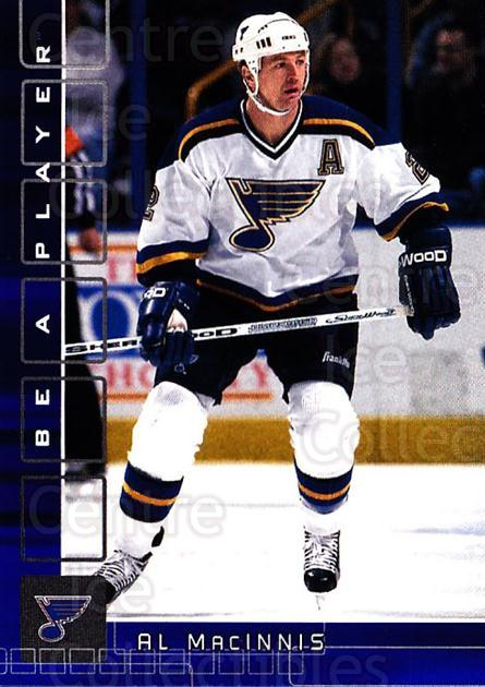 2001-02 BAP Memorabilia Sapphire #84 Al MacInnis<br/>1 In Stock - $5.00 each - <a href=https://centericecollectibles.foxycart.com/cart?name=2001-02%20BAP%20Memorabilia%20Sapphire%20%2384%20Al%20MacInnis...&quantity_max=1&price=$5.00&code=364213 class=foxycart> Buy it now! </a>