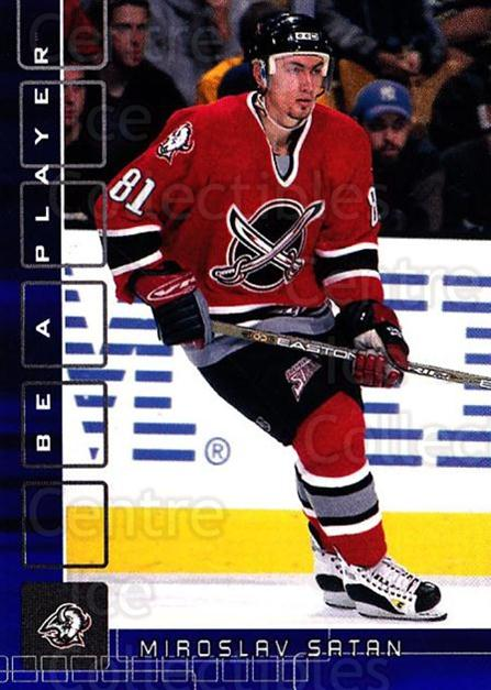 2001-02 BAP Memorabilia Sapphire #89 Miroslav Satan<br/>2 In Stock - $5.00 each - <a href=https://centericecollectibles.foxycart.com/cart?name=2001-02%20BAP%20Memorabilia%20Sapphire%20%2389%20Miroslav%20Satan...&quantity_max=2&price=$5.00&code=364218 class=foxycart> Buy it now! </a>