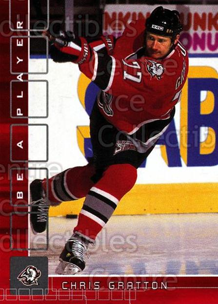 2001-02 BAP Memorabilia Ruby #145 Chris Gratton<br/>4 In Stock - $3.00 each - <a href=https://centericecollectibles.foxycart.com/cart?name=2001-02%20BAP%20Memorabilia%20Ruby%20%23145%20Chris%20Gratton...&quantity_max=4&price=$3.00&code=364318 class=foxycart> Buy it now! </a>