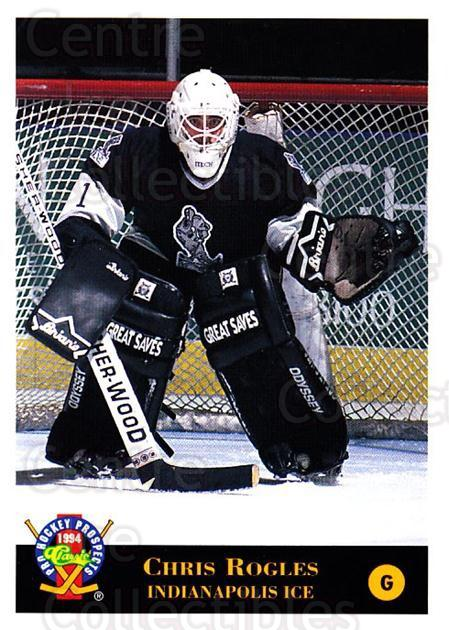 1994 Classic Pro Prospects #213 Chris Rogles<br/>1 In Stock - $1.00 each - <a href=https://centericecollectibles.foxycart.com/cart?name=1994%20Classic%20Pro%20Prospects%20%23213%20Chris%20Rogles...&quantity_max=1&price=$1.00&code=3643 class=foxycart> Buy it now! </a>