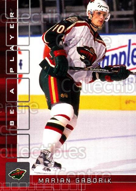 2001-02 BAP Memorabilia Ruby #285 Marian Gaborik<br/>2 In Stock - $3.00 each - <a href=https://centericecollectibles.foxycart.com/cart?name=2001-02%20BAP%20Memorabilia%20Ruby%20%23285%20Marian%20Gaborik...&quantity_max=2&price=$3.00&code=364466 class=foxycart> Buy it now! </a>