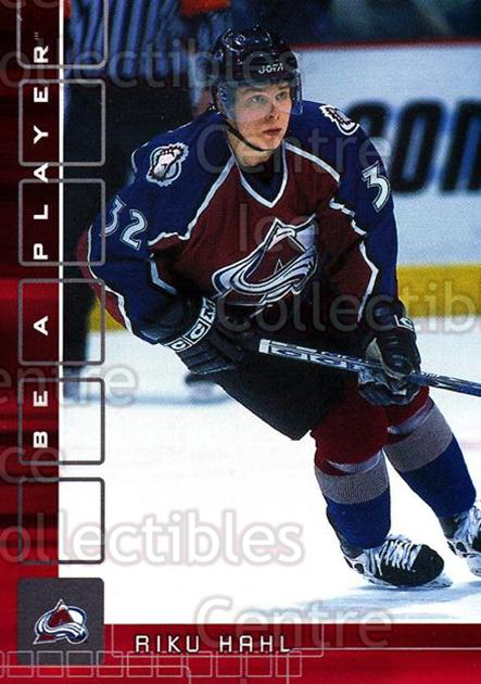 2001-02 BAP Memorabilia Ruby #356 Riku Hahl<br/>3 In Stock - $3.00 each - <a href=https://centericecollectibles.foxycart.com/cart?name=2001-02%20BAP%20Memorabilia%20Ruby%20%23356%20Riku%20Hahl...&price=$3.00&code=364532 class=foxycart> Buy it now! </a>