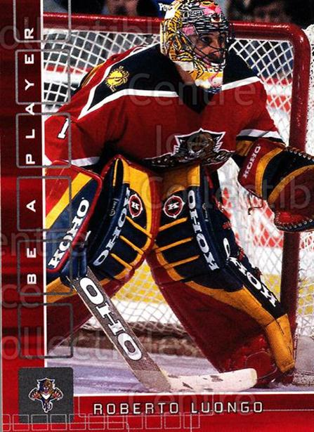 2001-02 BAP Memorabilia Ruby #77 Roberto Luongo<br/>1 In Stock - $3.00 each - <a href=https://centericecollectibles.foxycart.com/cart?name=2001-02%20BAP%20Memorabilia%20Ruby%20%2377%20Roberto%20Luongo...&quantity_max=1&price=$3.00&code=364705 class=foxycart> Buy it now! </a>