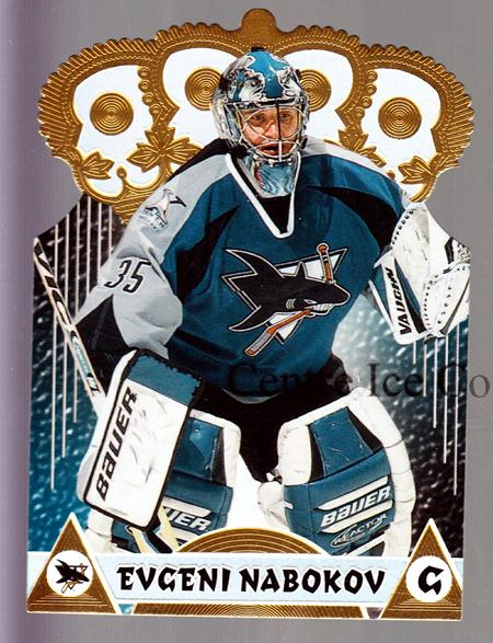 2001-02 Pacific Gold Crown Die-Cuts #19 Evgeni Nabokov<br/>3 In Stock - $3.00 each - <a href=https://centericecollectibles.foxycart.com/cart?name=2001-02%20Pacific%20Gold%20Crown%20Die-Cuts%20%2319%20Evgeni%20Nabokov...&quantity_max=3&price=$3.00&code=364769 class=foxycart> Buy it now! </a>