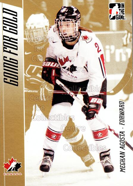 2006 ITG Going For Gold #9 Meghan Agosta<br/>5 In Stock - $2.00 each - <a href=https://centericecollectibles.foxycart.com/cart?name=2006%20ITG%20Going%20For%20Gold%20%239%20Meghan%20Agosta...&quantity_max=5&price=$2.00&code=365184 class=foxycart> Buy it now! </a>