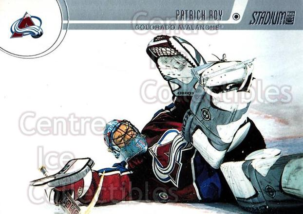 2002-03 Stadium Club Silver Decoy Cards #73 Patrick Roy<br/>1 In Stock - $5.00 each - <a href=https://centericecollectibles.foxycart.com/cart?name=2002-03%20Stadium%20Club%20Silver%20Decoy%20Cards%20%2373%20Patrick%20Roy...&quantity_max=1&price=$5.00&code=365224 class=foxycart> Buy it now! </a>