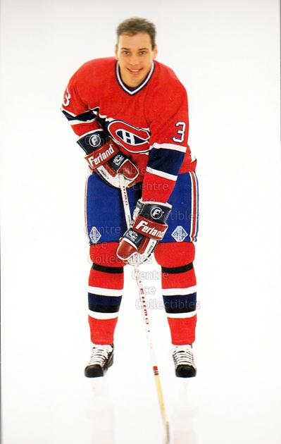 1991-92 Montreal Canadiens Postcards #19 Sylvain Lefebvre<br/>4 In Stock - $3.00 each - <a href=https://centericecollectibles.foxycart.com/cart?name=1991-92%20Montreal%20Canadiens%20Postcards%20%2319%20Sylvain%20Lefebvr...&quantity_max=4&price=$3.00&code=365737 class=foxycart> Buy it now! </a>