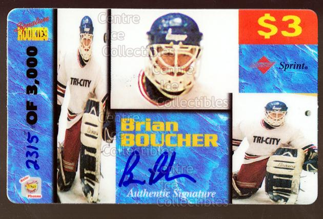 1995 Signature Rookies Auto-Phonex Phone Cards #10 Brian Boucher<br/>2 In Stock - $3.00 each - <a href=https://centericecollectibles.foxycart.com/cart?name=1995%20Signature%20Rookies%20Auto-Phonex%20Phone%20Cards%20%2310%20Brian%20Boucher...&price=$3.00&code=36593 class=foxycart> Buy it now! </a>