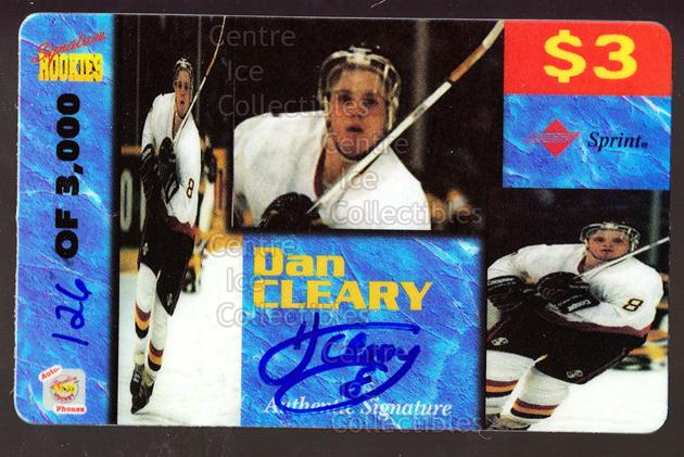 1995 Signature Rookies Auto-Phonex Phone Cards #15 Daniel Cleary<br/>2 In Stock - $3.00 each - <a href=https://centericecollectibles.foxycart.com/cart?name=1995%20Signature%20Rookies%20Auto-Phonex%20Phone%20Cards%20%2315%20Daniel%20Cleary...&quantity_max=2&price=$3.00&code=36596 class=foxycart> Buy it now! </a>