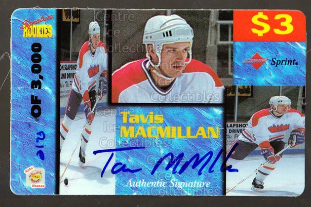 1995 Signature Rookies Auto-Phonex Phone Cards #27 Travis MacMillan<br/>3 In Stock - $3.00 each - <a href=https://centericecollectibles.foxycart.com/cart?name=1995%20Signature%20Rookies%20Auto-Phonex%20Phone%20Cards%20%2327%20Travis%20MacMilla...&price=$3.00&code=36603 class=foxycart> Buy it now! </a>