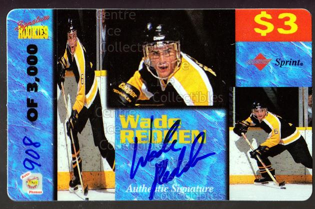 1995 Signature Rookies Auto-Phonex Phone Cards #34 Wade Redden<br/>2 In Stock - $3.00 each - <a href=https://centericecollectibles.foxycart.com/cart?name=1995%20Signature%20Rookies%20Auto-Phonex%20Phone%20Cards%20%2334%20Wade%20Redden...&price=$3.00&code=36608 class=foxycart> Buy it now! </a>
