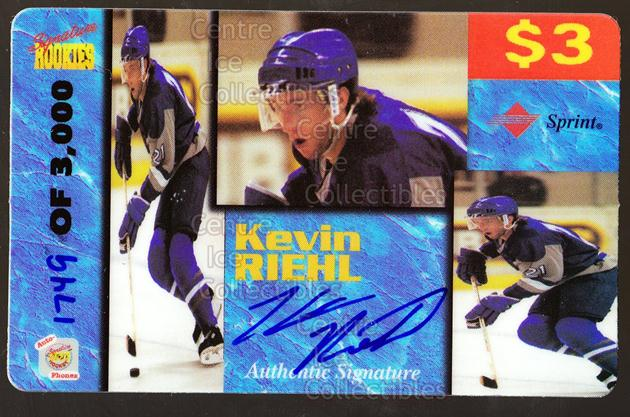 1995 Signature Rookies Auto-Phonex Phone Cards #35 Kevin Riehl<br/>4 In Stock - $3.00 each - <a href=https://centericecollectibles.foxycart.com/cart?name=1995%20Signature%20Rookies%20Auto-Phonex%20Phone%20Cards%20%2335%20Kevin%20Riehl...&price=$3.00&code=36609 class=foxycart> Buy it now! </a>