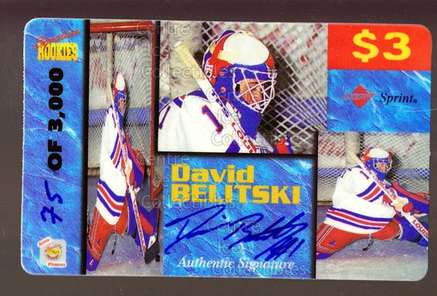 1995 Signature Rookies Auto-Phonex Phone Cards #5 David Belitski<br/>4 In Stock - $3.00 each - <a href=https://centericecollectibles.foxycart.com/cart?name=1995%20Signature%20Rookies%20Auto-Phonex%20Phone%20Cards%20%235%20David%20Belitski...&price=$3.00&code=36613 class=foxycart> Buy it now! </a>