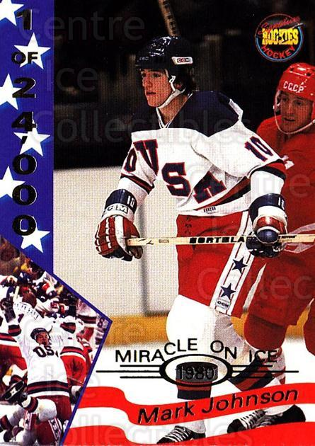 1995 Signature Rookies Miracle on Ice Numbered #17 Mark Johnson<br/>4 In Stock - $2.00 each - <a href=https://centericecollectibles.foxycart.com/cart?name=1995%20Signature%20Rookies%20Miracle%20on%20Ice%20Numbered%20%2317%20Mark%20Johnson...&quantity_max=4&price=$2.00&code=36654 class=foxycart> Buy it now! </a>