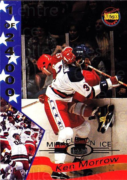 1995 Signature Rookies Miracle on Ice Numbered #21 Ken Morrow<br/>4 In Stock - $2.00 each - <a href=https://centericecollectibles.foxycart.com/cart?name=1995%20Signature%20Rookies%20Miracle%20on%20Ice%20Numbered%20%2321%20Ken%20Morrow...&quantity_max=4&price=$2.00&code=36659 class=foxycart> Buy it now! </a>