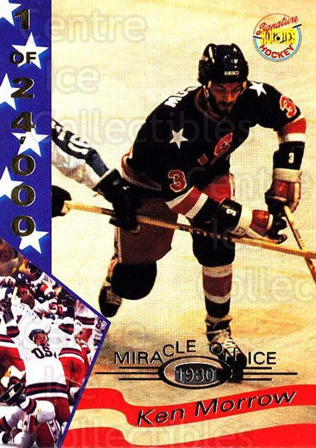 1995 Signature Rookies Miracle on Ice Numbered #22 Ken Morrow<br/>2 In Stock - $2.00 each - <a href=https://centericecollectibles.foxycart.com/cart?name=1995%20Signature%20Rookies%20Miracle%20on%20Ice%20Numbered%20%2322%20Ken%20Morrow...&quantity_max=2&price=$2.00&code=36660 class=foxycart> Buy it now! </a>