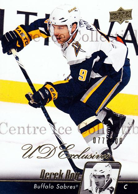 2010-11 Upper Deck UD Exclusives #176 Derek Roy<br/>1 In Stock - $5.00 each - <a href=https://centericecollectibles.foxycart.com/cart?name=2010-11%20Upper%20Deck%20UD%20Exclusives%20%23176%20Derek%20Roy...&quantity_max=1&price=$5.00&code=366815 class=foxycart> Buy it now! </a>