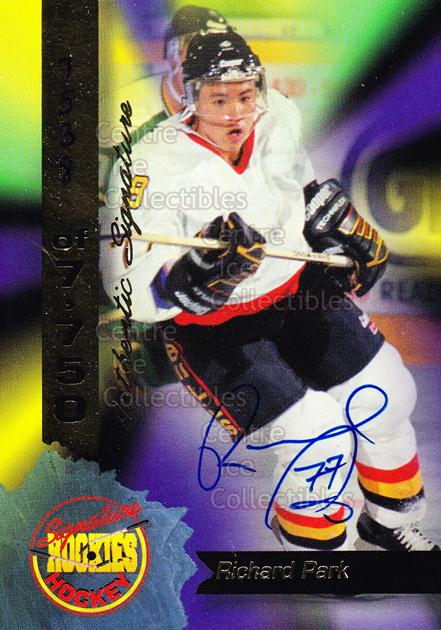 1995 Signature Rookies Hockey Signatures #12 Richard Park<br/>3 In Stock - $3.00 each - <a href=https://centericecollectibles.foxycart.com/cart?name=1995%20Signature%20Rookies%20Hockey%20Signatures%20%2312%20Richard%20Park...&price=$3.00&code=36734 class=foxycart> Buy it now! </a>