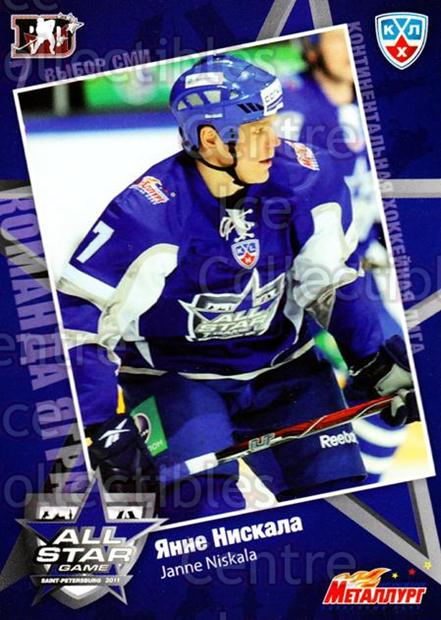 2010-11 Russian KHL SeReal AS Game #31 Janne Niskala<br/>7 In Stock - $2.00 each - <a href=https://centericecollectibles.foxycart.com/cart?name=2010-11%20Russian%20KHL%20SeReal%20AS%20Game%20%2331%20Janne%20Niskala...&quantity_max=7&price=$2.00&code=367496 class=foxycart> Buy it now! </a>