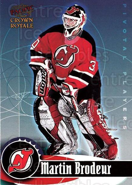 1998-99 Crown Royale Pivotal Players #14 Martin Brodeur<br/>1 In Stock - $2.00 each - <a href=https://centericecollectibles.foxycart.com/cart?name=1998-99%20Crown%20Royale%20Pivotal%20Players%20%2314%20Martin%20Brodeur...&price=$2.00&code=367530 class=foxycart> Buy it now! </a>