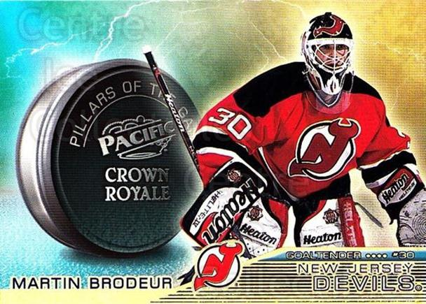 1998-99 Crown Royale Pillars of the Game #16 Martin Brodeur<br/>1 In Stock - $3.00 each - <a href=https://centericecollectibles.foxycart.com/cart?name=1998-99%20Crown%20Royale%20Pillars%20of%20the%20Game%20%2316%20Martin%20Brodeur...&price=$3.00&code=367539 class=foxycart> Buy it now! </a>