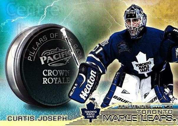 1998-99 Crown Royale Pillars of the Game #22 Curtis Joseph<br/>1 In Stock - $2.00 each - <a href=https://centericecollectibles.foxycart.com/cart?name=1998-99%20Crown%20Royale%20Pillars%20of%20the%20Game%20%2322%20Curtis%20Joseph...&quantity_max=1&price=$2.00&code=367543 class=foxycart> Buy it now! </a>
