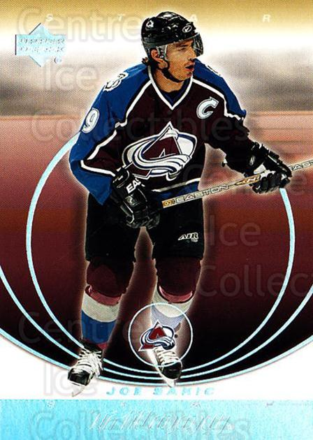 2003-04 UD Trilogy #23 Joe Sakic<br/>2 In Stock - $3.00 each - <a href=https://centericecollectibles.foxycart.com/cart?name=2003-04%20UD%20Trilogy%20%2323%20Joe%20Sakic...&quantity_max=2&price=$3.00&code=367575 class=foxycart> Buy it now! </a>