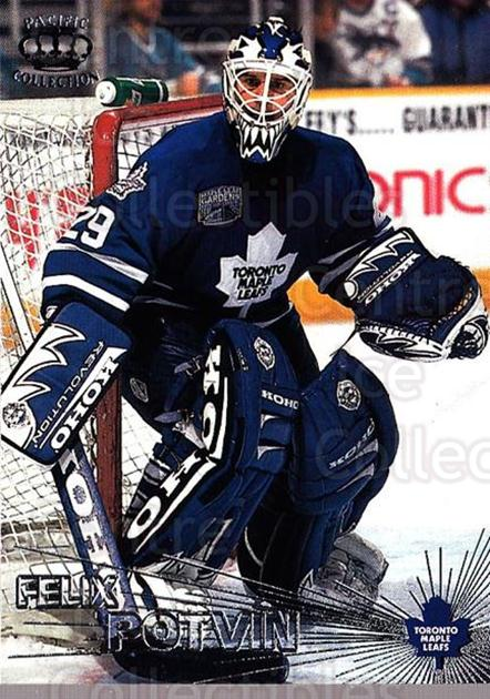 1997-98 Pacific Silver #29 Felix Potvin<br/>6 In Stock - $3.00 each - <a href=https://centericecollectibles.foxycart.com/cart?name=1997-98%20Pacific%20Silver%20%2329%20Felix%20Potvin...&quantity_max=6&price=$3.00&code=369388 class=foxycart> Buy it now! </a>