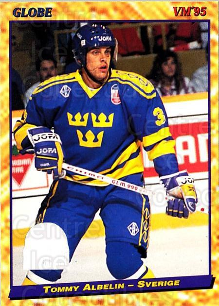 1995 Swedish Globe World Championships #10 Tommy Albelin<br/>10 In Stock - $2.00 each - <a href=https://centericecollectibles.foxycart.com/cart?name=1995%20Swedish%20Globe%20World%20Championships%20%2310%20Tommy%20Albelin...&price=$2.00&code=36992 class=foxycart> Buy it now! </a>