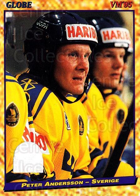 1995 Swedish Globe World Championships #11 Peter Andersson<br/>9 In Stock - $2.00 each - <a href=https://centericecollectibles.foxycart.com/cart?name=1995%20Swedish%20Globe%20World%20Championships%20%2311%20Peter%20Andersson...&price=$2.00&code=36998 class=foxycart> Buy it now! </a>