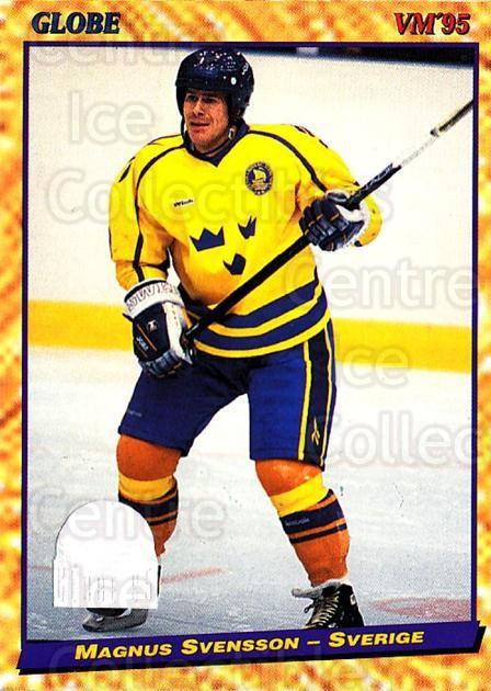 1995 Swedish Globe World Championships #12 Magnus Svensson<br/>11 In Stock - $2.00 each - <a href=https://centericecollectibles.foxycart.com/cart?name=1995%20Swedish%20Globe%20World%20Championships%20%2312%20Magnus%20Svensson...&price=$2.00&code=37005 class=foxycart> Buy it now! </a>