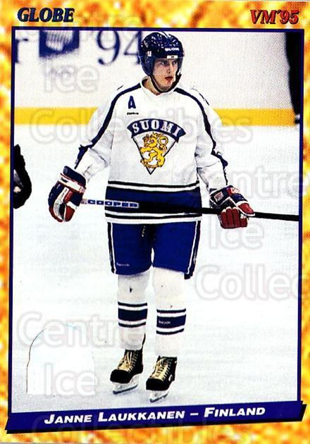 1995 Swedish Globe World Championships #134 Janne Laukkanen<br/>13 In Stock - $2.00 each - <a href=https://centericecollectibles.foxycart.com/cart?name=1995%20Swedish%20Globe%20World%20Championships%20%23134%20Janne%20Laukkanen...&quantity_max=13&price=$2.00&code=37020 class=foxycart> Buy it now! </a>