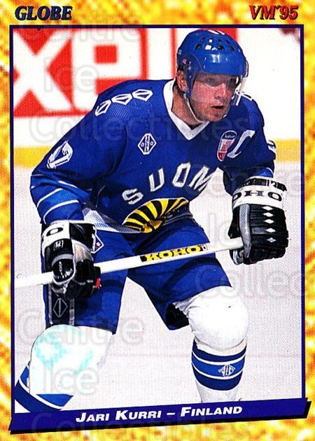 1995 Swedish Globe World Championships #137 Jari Kurri<br/>10 In Stock - $2.00 each - <a href=https://centericecollectibles.foxycart.com/cart?name=1995%20Swedish%20Globe%20World%20Championships%20%23137%20Jari%20Kurri...&quantity_max=10&price=$2.00&code=37023 class=foxycart> Buy it now! </a>