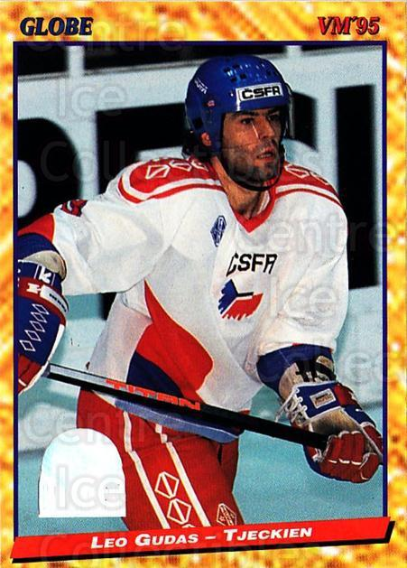 1995 Swedish Globe World Championships #148 Leo Gudas<br/>4 In Stock - $2.00 each - <a href=https://centericecollectibles.foxycart.com/cart?name=1995%20Swedish%20Globe%20World%20Championships%20%23148%20Leo%20Gudas...&quantity_max=4&price=$2.00&code=37032 class=foxycart> Buy it now! </a>