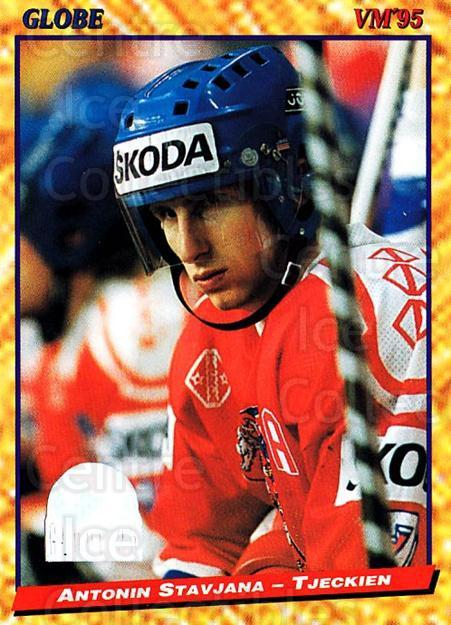 1995 Swedish Globe World Championships #150 Antonin Stavjana<br/>8 In Stock - $2.00 each - <a href=https://centericecollectibles.foxycart.com/cart?name=1995%20Swedish%20Globe%20World%20Championships%20%23150%20Antonin%20Stavjan...&quantity_max=8&price=$2.00&code=37035 class=foxycart> Buy it now! </a>