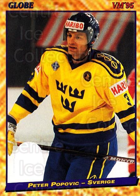 1995 Swedish Globe World Championships #19 Peter Popovic<br/>11 In Stock - $2.00 each - <a href=https://centericecollectibles.foxycart.com/cart?name=1995%20Swedish%20Globe%20World%20Championships%20%2319%20Peter%20Popovic...&price=$2.00&code=37074 class=foxycart> Buy it now! </a>