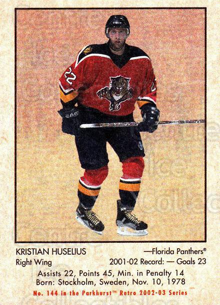 2002-03 Parkhurst Retro Minis #144 Kristian Huselius<br/>11 In Stock - $2.00 each - <a href=https://centericecollectibles.foxycart.com/cart?name=2002-03%20Parkhurst%20Retro%20Minis%20%23144%20Kristian%20Huseli...&quantity_max=11&price=$2.00&code=370873 class=foxycart> Buy it now! </a>