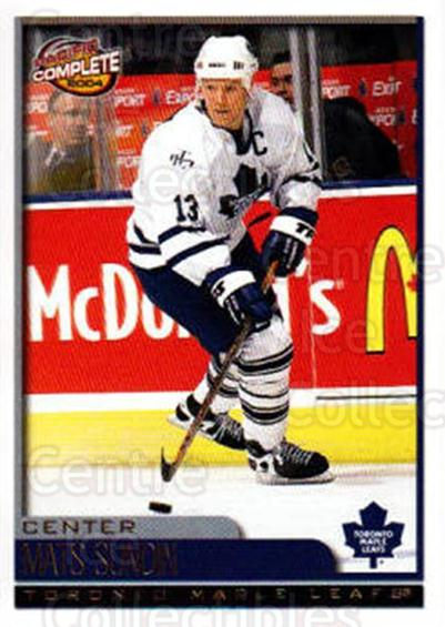 2003-04 Pacific Complete #4 Mats Sundin<br/>2 In Stock - $2.00 each - <a href=https://centericecollectibles.foxycart.com/cart?name=2003-04%20Pacific%20Complete%20%234%20Mats%20Sundin...&quantity_max=2&price=$2.00&code=371016 class=foxycart> Buy it now! </a>