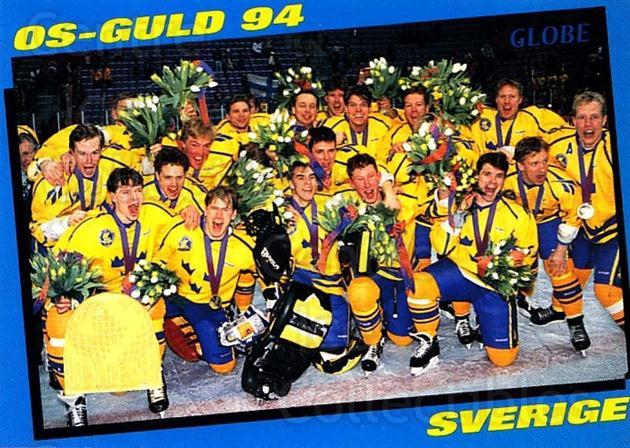 1995 Swedish Globe World Championships #244 Team Sweden, Team Photo<br/>10 In Stock - $2.00 each - <a href=https://centericecollectibles.foxycart.com/cart?name=1995%20Swedish%20Globe%20World%20Championships%20%23244%20Team%20Sweden,%20Te...&price=$2.00&code=37132 class=foxycart> Buy it now! </a>