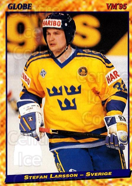 1995 Swedish Globe World Championships #25 Stefan Larsson<br/>12 In Stock - $2.00 each - <a href=https://centericecollectibles.foxycart.com/cart?name=1995%20Swedish%20Globe%20World%20Championships%20%2325%20Stefan%20Larsson...&price=$2.00&code=37137 class=foxycart> Buy it now! </a>