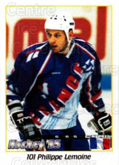 1995 Swedish World Championships Stickers #101 Philippe Lemoine<br/>5 In Stock - $2.00 each - <a href=https://centericecollectibles.foxycart.com/cart?name=1995%20Swedish%20World%20Championships%20Stickers%20%23101%20Philippe%20Lemoin...&quantity_max=5&price=$2.00&code=37142 class=foxycart> Buy it now! </a>