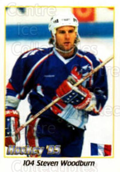 1995 Swedish World Championships Stickers #104 Steven Woodburn<br/>4 In Stock - $2.00 each - <a href=https://centericecollectibles.foxycart.com/cart?name=1995%20Swedish%20World%20Championships%20Stickers%20%23104%20Steven%20Woodburn...&quantity_max=4&price=$2.00&code=37145 class=foxycart> Buy it now! </a>