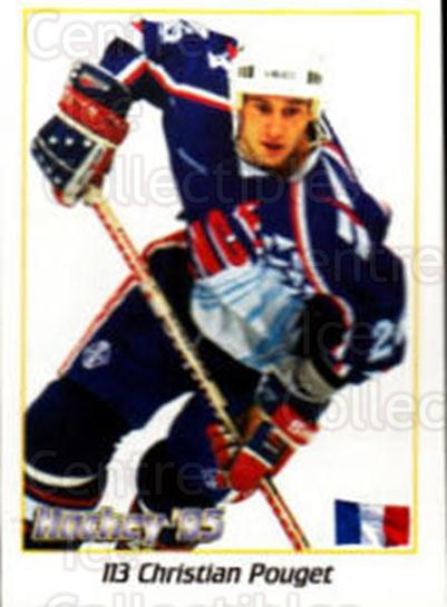 1995 Swedish World Championships Stickers #113 Christian Pouget<br/>2 In Stock - $2.00 each - <a href=https://centericecollectibles.foxycart.com/cart?name=1995%20Swedish%20World%20Championships%20Stickers%20%23113%20Christian%20Pouge...&quantity_max=2&price=$2.00&code=37155 class=foxycart> Buy it now! </a>
