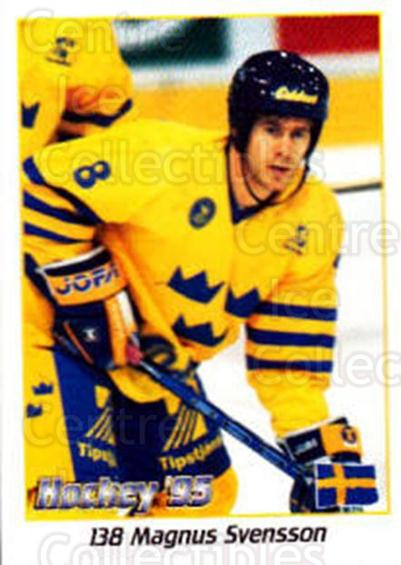 1995 Swedish World Championships Stickers #138 Magnus Svensson<br/>3 In Stock - $2.00 each - <a href=https://centericecollectibles.foxycart.com/cart?name=1995%20Swedish%20World%20Championships%20Stickers%20%23138%20Magnus%20Svensson...&price=$2.00&code=37180 class=foxycart> Buy it now! </a>
