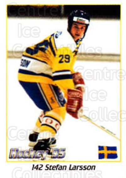1995 Swedish World Championships Stickers #142 Stefan Larsson<br/>4 In Stock - $2.00 each - <a href=https://centericecollectibles.foxycart.com/cart?name=1995%20Swedish%20World%20Championships%20Stickers%20%23142%20Stefan%20Larsson...&price=$2.00&code=37185 class=foxycart> Buy it now! </a>